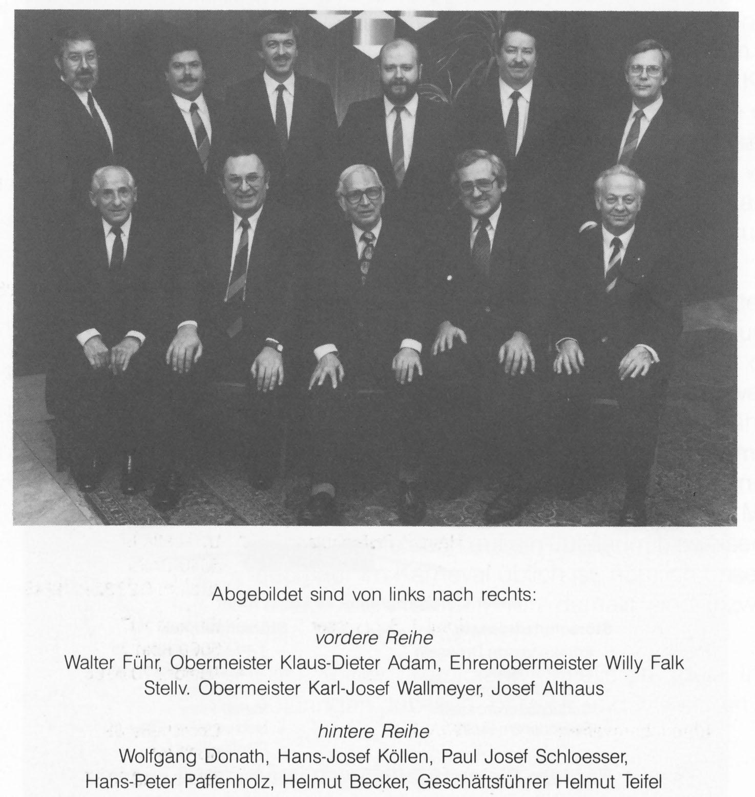 Innungsvorstand 1975